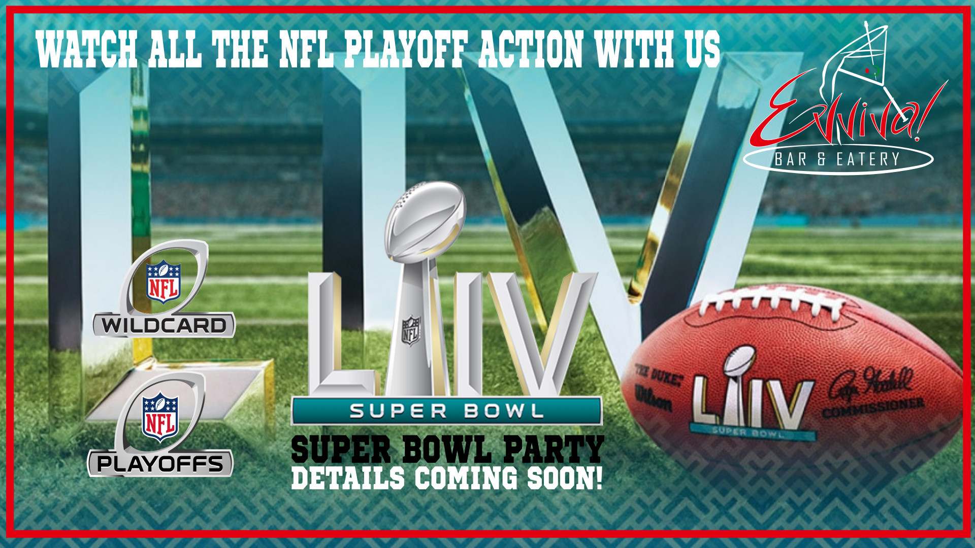 NFL - Divisional Round Sunday @ Evviva! Bar & Eatery