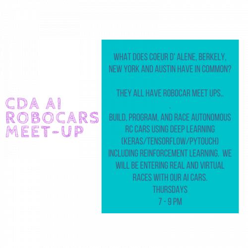 CdA AI Robocars Meetup