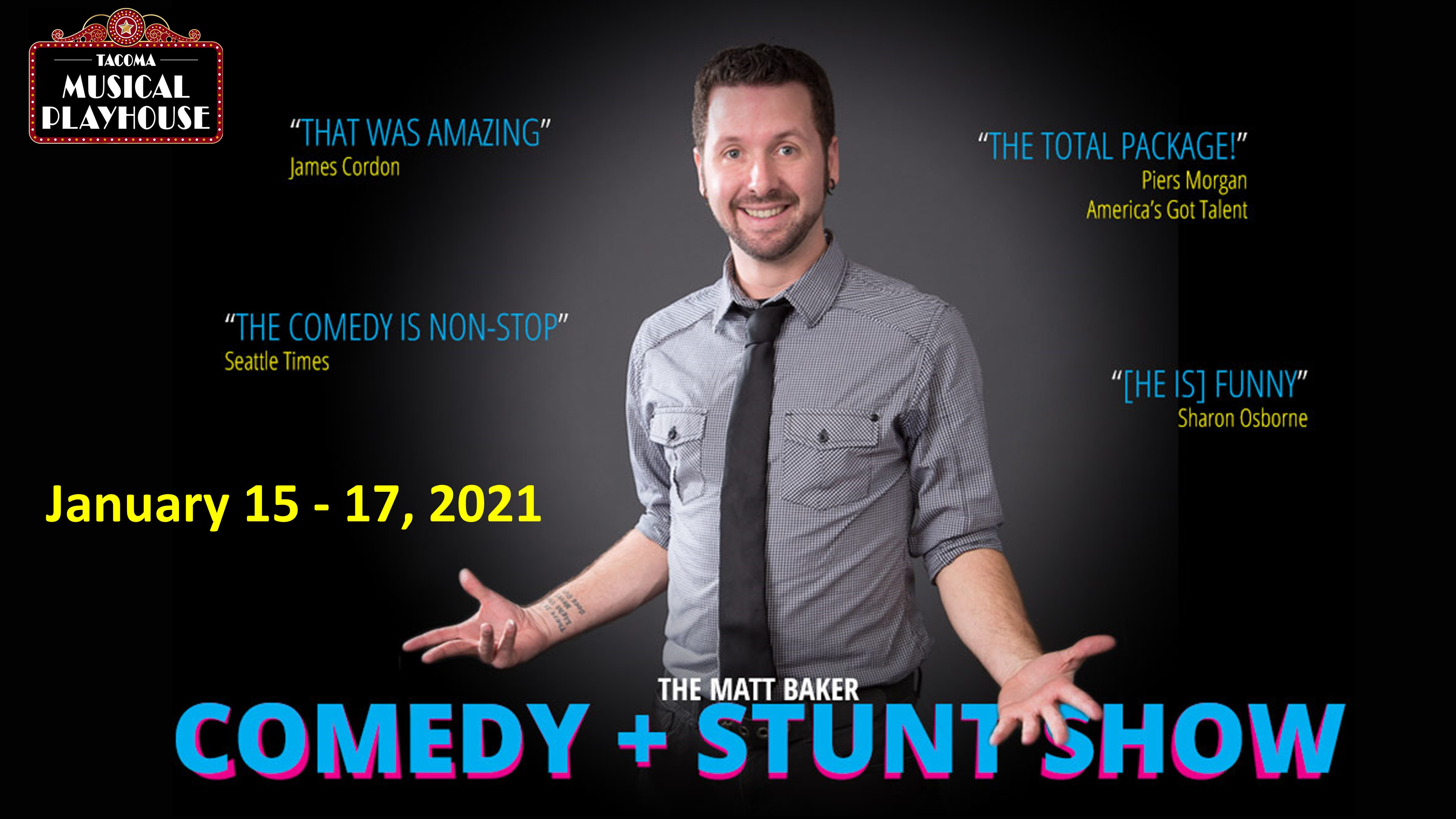 Matt Baker Comedy + Stunt Show - A Virtual Event