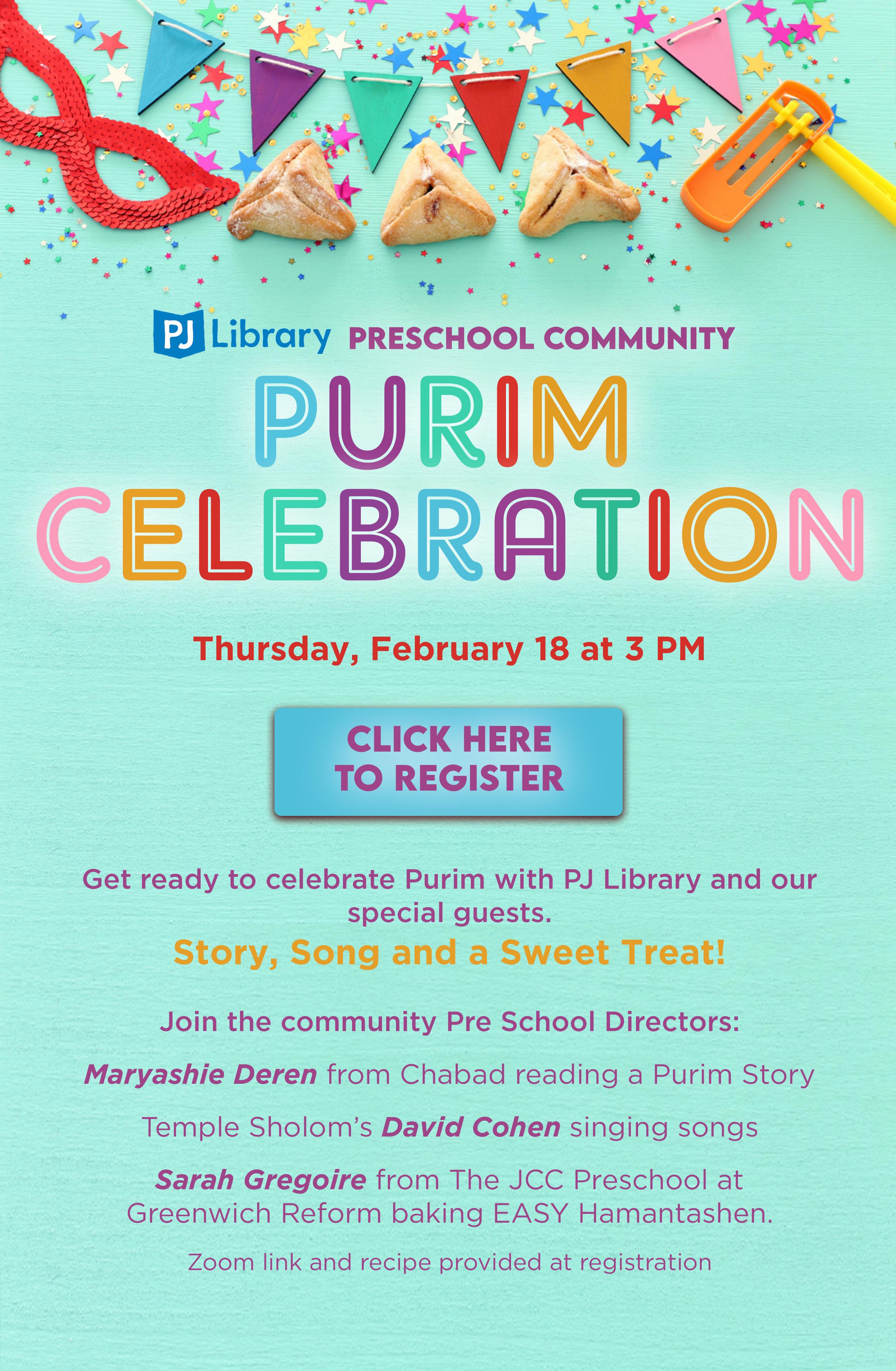 Community Pre School Purim Celebration