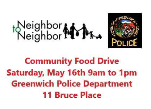 Community Food Drive at Town of Greenwich Public Safety Complex