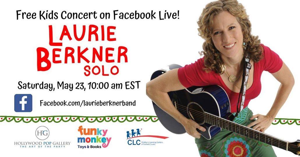 Laurie Berkner Live on Facebook 5/23 10am