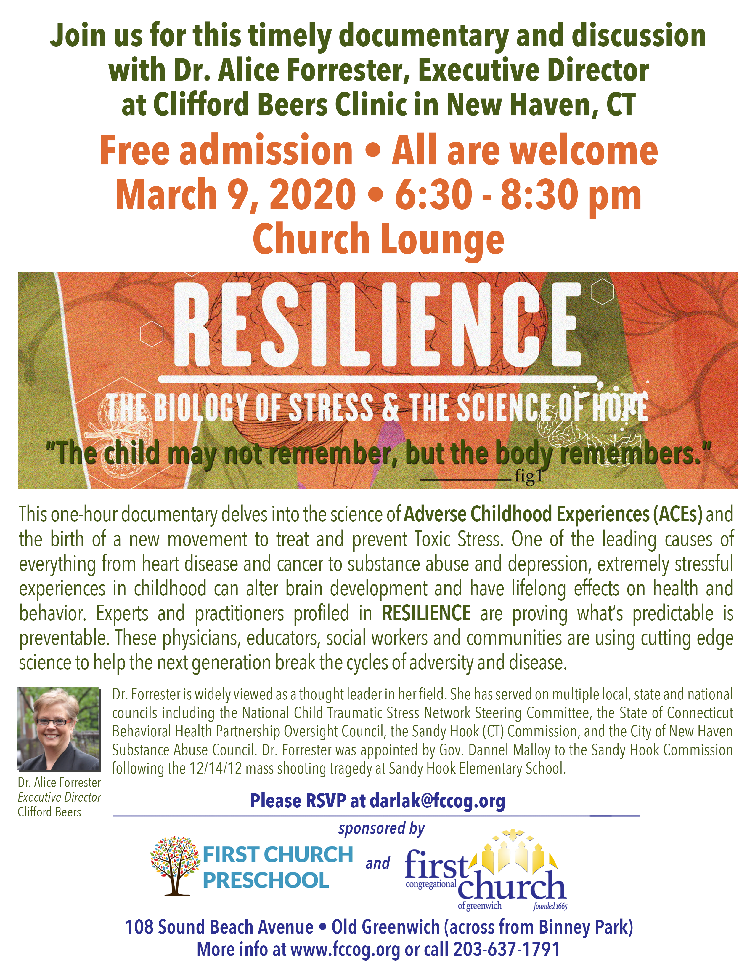 """""""Resilience: The Biology of Stress & The Science of Hope"""" Documentary Screening"""