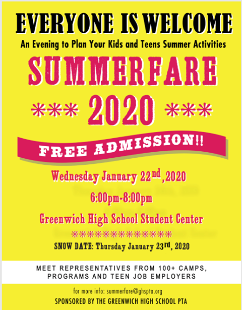 Summerfare @ Greenwich High School