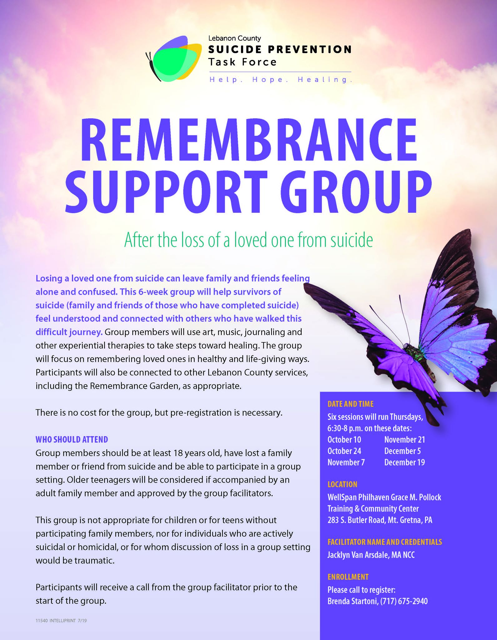 Suicide Loss Remembrance Support Group