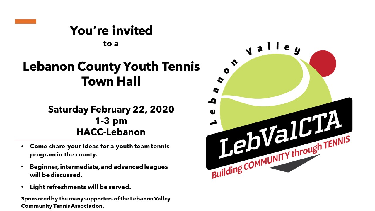 Lebanon County Youth Tennis Town Hall @ HACC