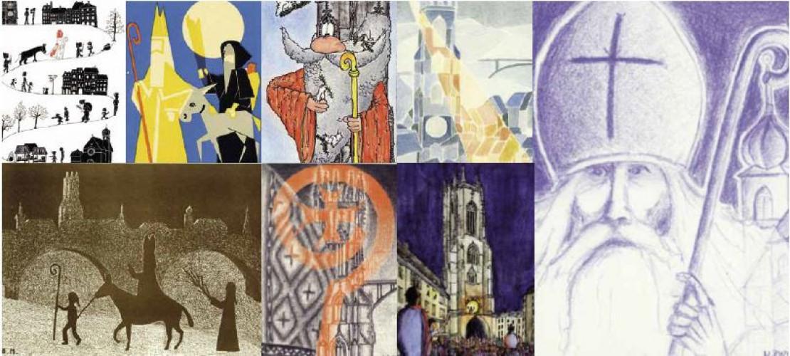 Bibliothèque de la Ville, Fribourg - Austellellung Die Karten des Sankt Nikolaus-Fest, von 1916 bis 2019, Kollektion Dietrich