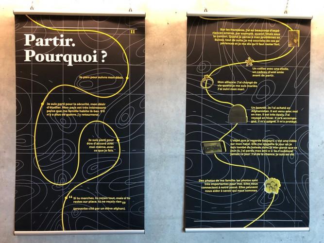 LivrEchange, bibliothèque interculturelle, Fribourg - Exposition « Autour des frontières »