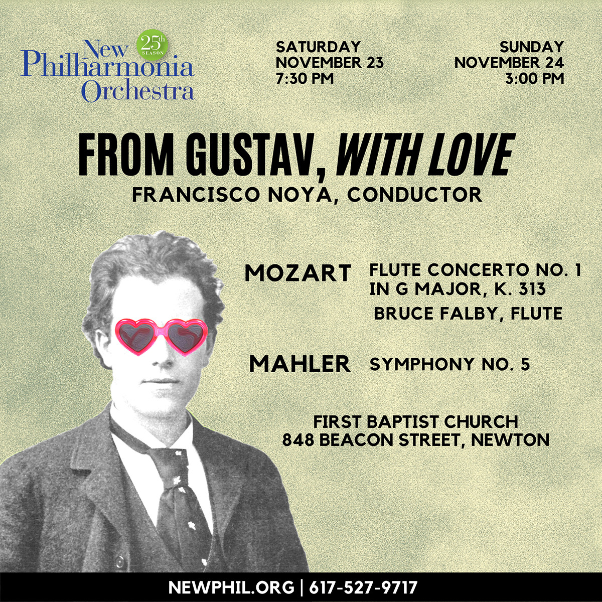 New Philharmonia Presents Classics I: From Gustav, With Love