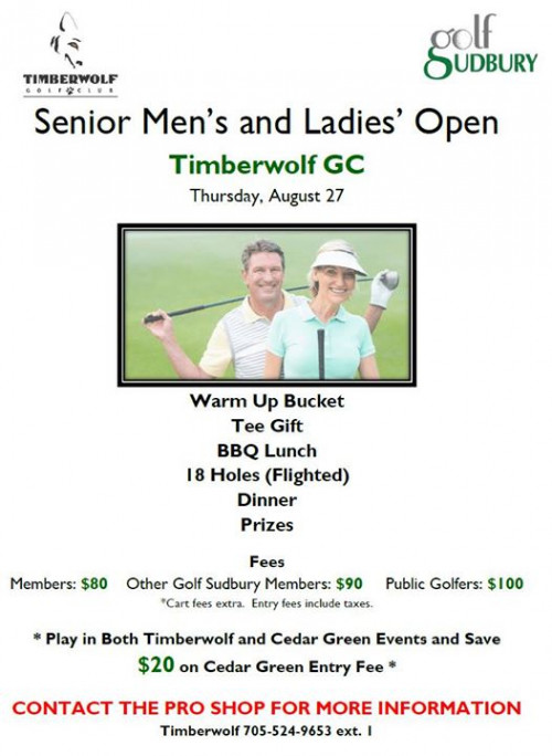 Timberwolf Senior Men's and Ladies' Open