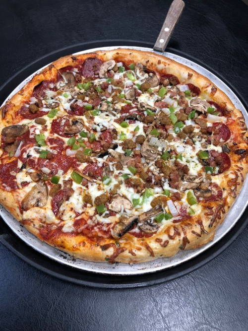 Cousin Vinny's Tuesday Features (LG Godfather Pizza $15.99 or Vinny's Burger $12.99)