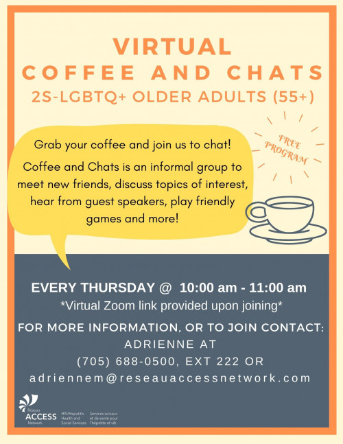 Virtual Coffee and Chats (2S-LGBTQ+ Older Adults)