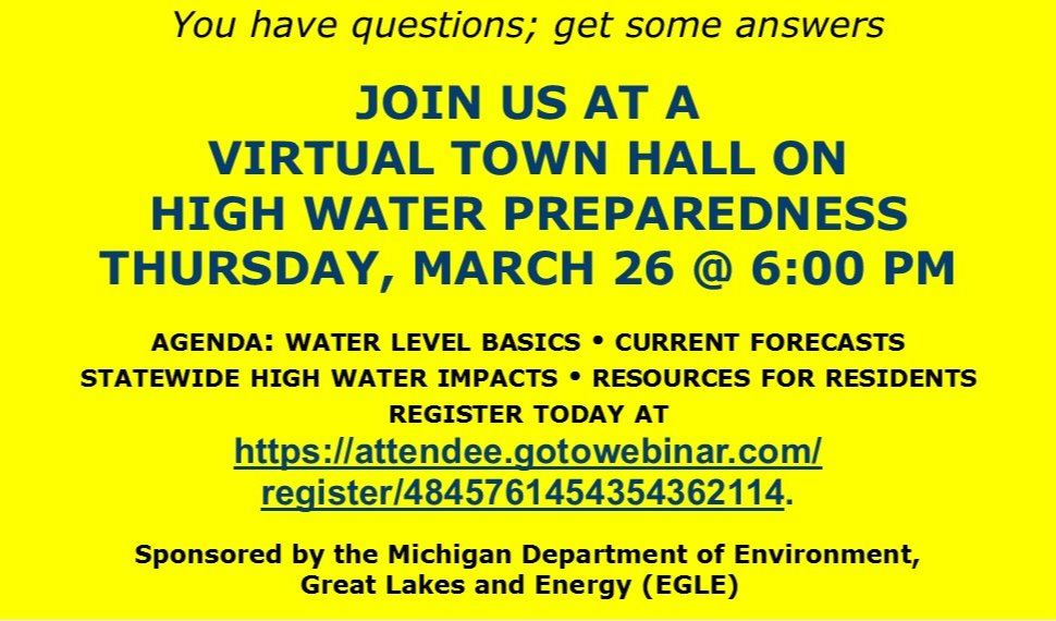 Michigan High Water Virtual Townhall @ Online