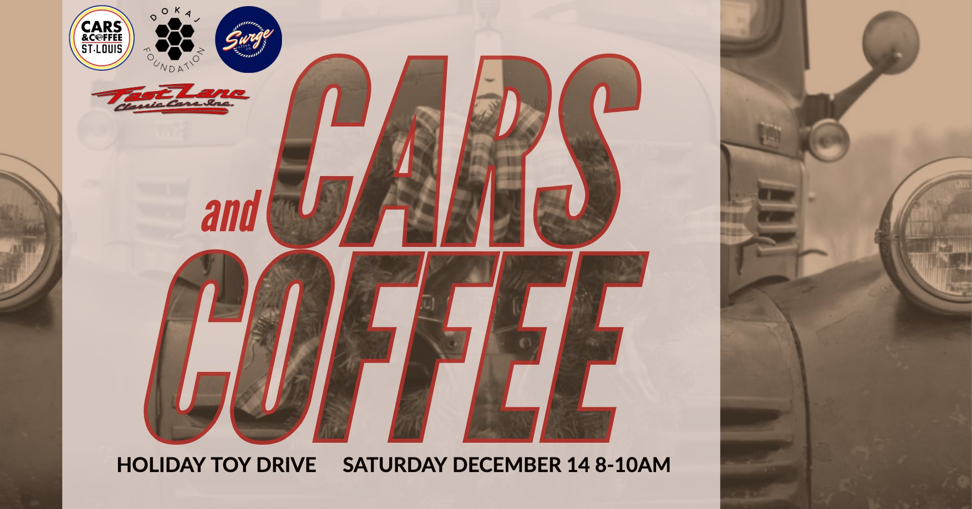 Cars and Coffee Holiday Toy Drive at Fast Lane Classic Cars (final 2019 event)