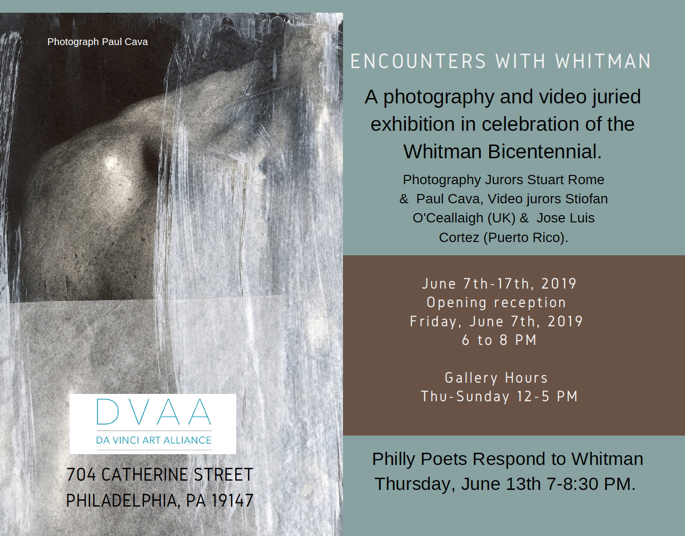 Opening Reception: Encounters with Whitman: a Photography and Video Exhibition