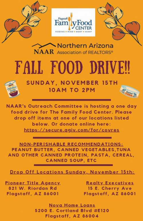 Food Drive- one day only