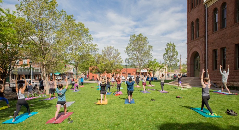 """Yoga on the Lawn with Holly White """"Physical Distancing Style"""""""