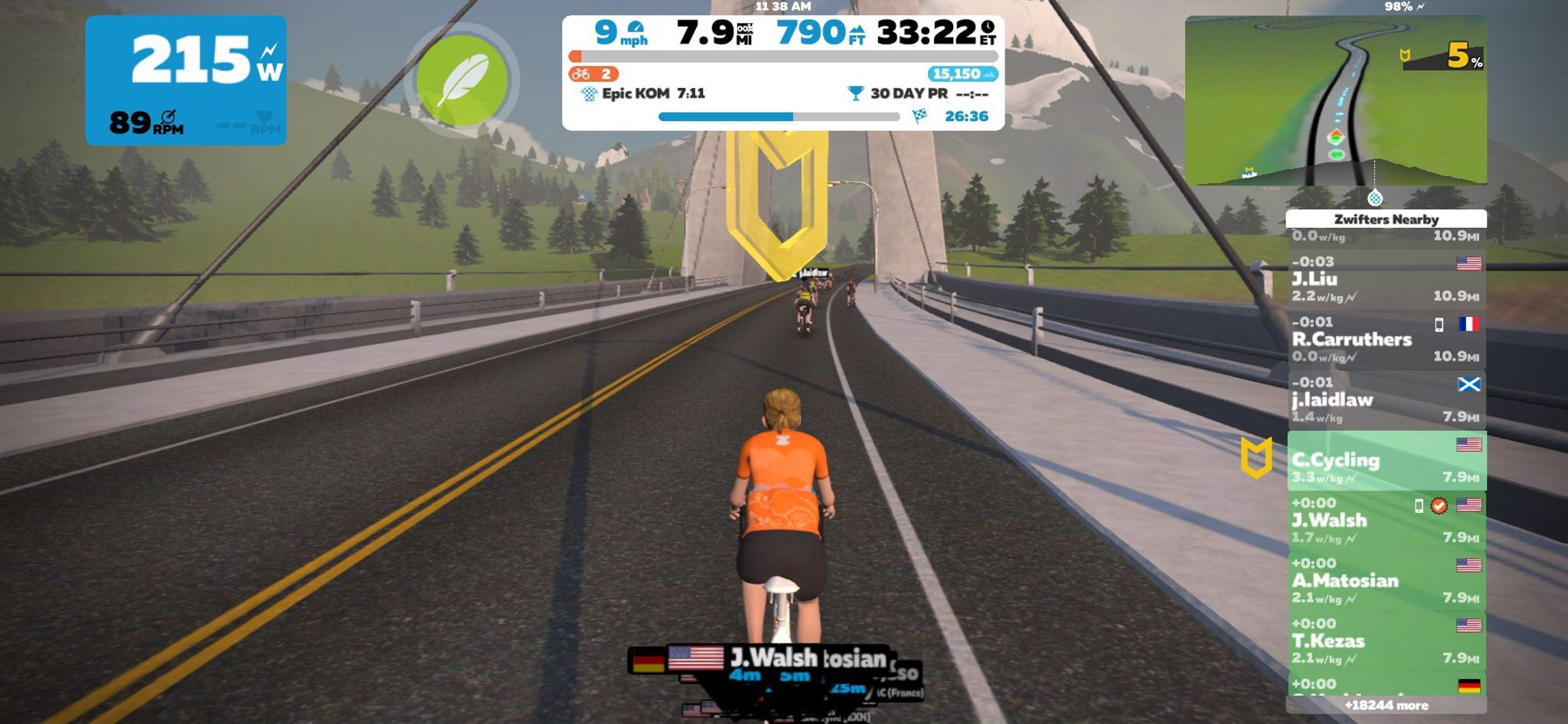 CAF Cycling Club Zwift Ride