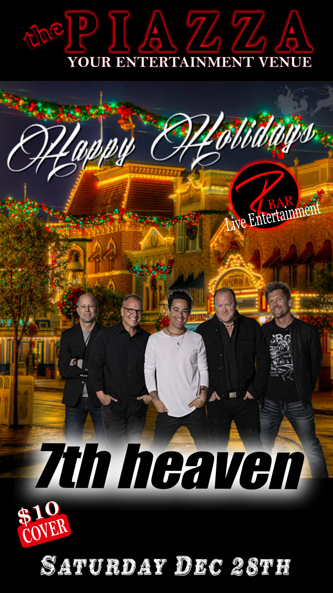 7th heaven Band - Live Entertainment @ the PIAZZA - Aurora