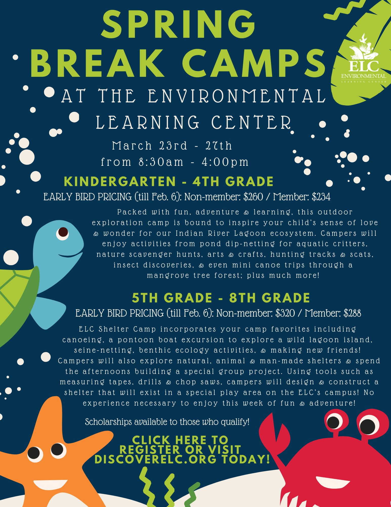 Spring Break Camp at the Environmental Learning Center