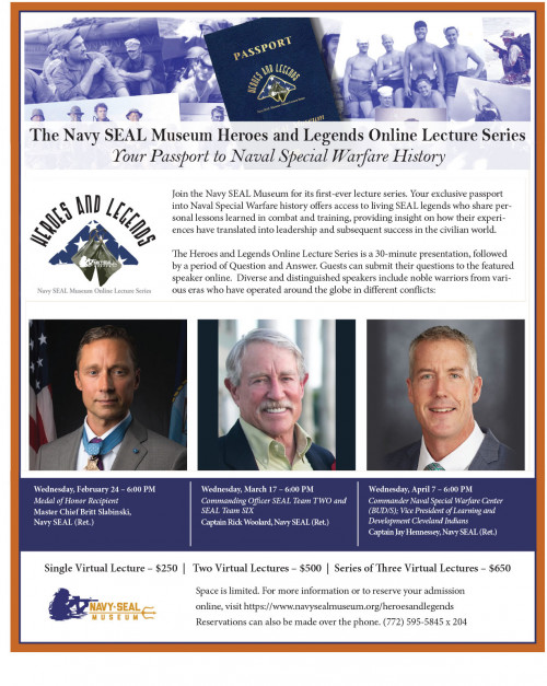 Navy SEAL Museum Heroes and Legends Lecture Series