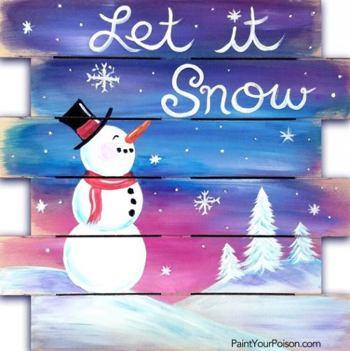 Let It Snow Paint Party!