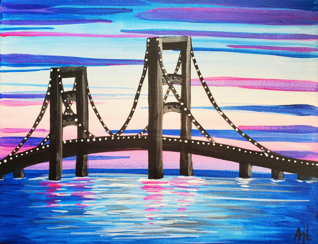 Outdoor Paint Party - Mackinac Bridge