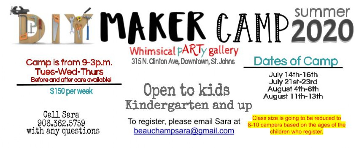 Maker Camp Update at Whimsical pARTy Gallery