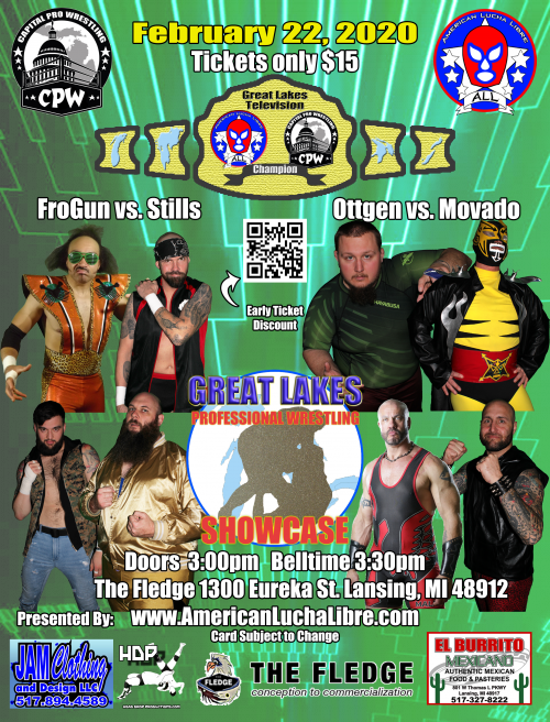 Capital Pro Wrestling at the Fledge 2/22/2020