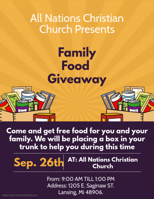 Family Food Giveaway