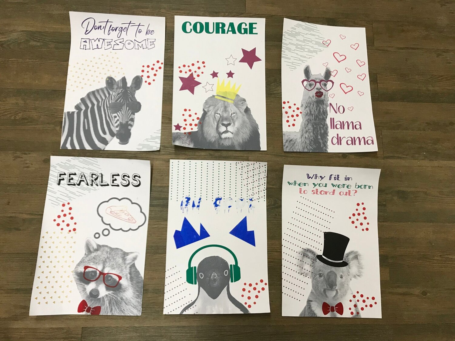 Inspirational Animal Posters Print and take Workshop