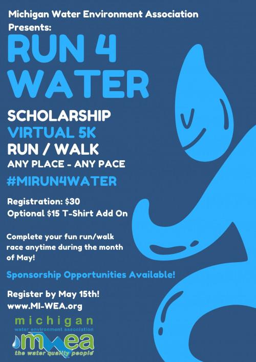 Run 4 Water 5K: MWEA Scholarship Virtual Run/Walk