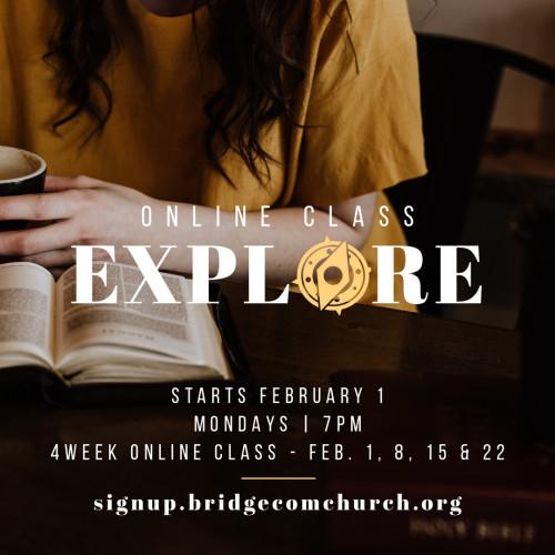 Explore Class - Online   7pm