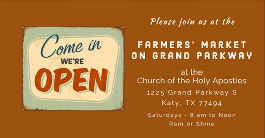 Saturday Farmers Market KatyTX