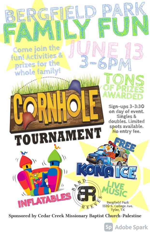Bergfield Park Family Fun Day & Cornhole Tournament