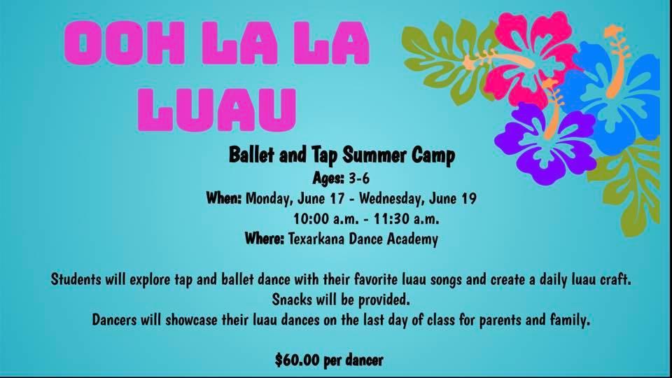 OOH LA LA LUAU Ballet and Tap Summer Camp