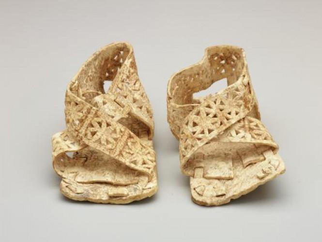Peru, Chimú, pair of infant shoes, 1100-1400.jpg