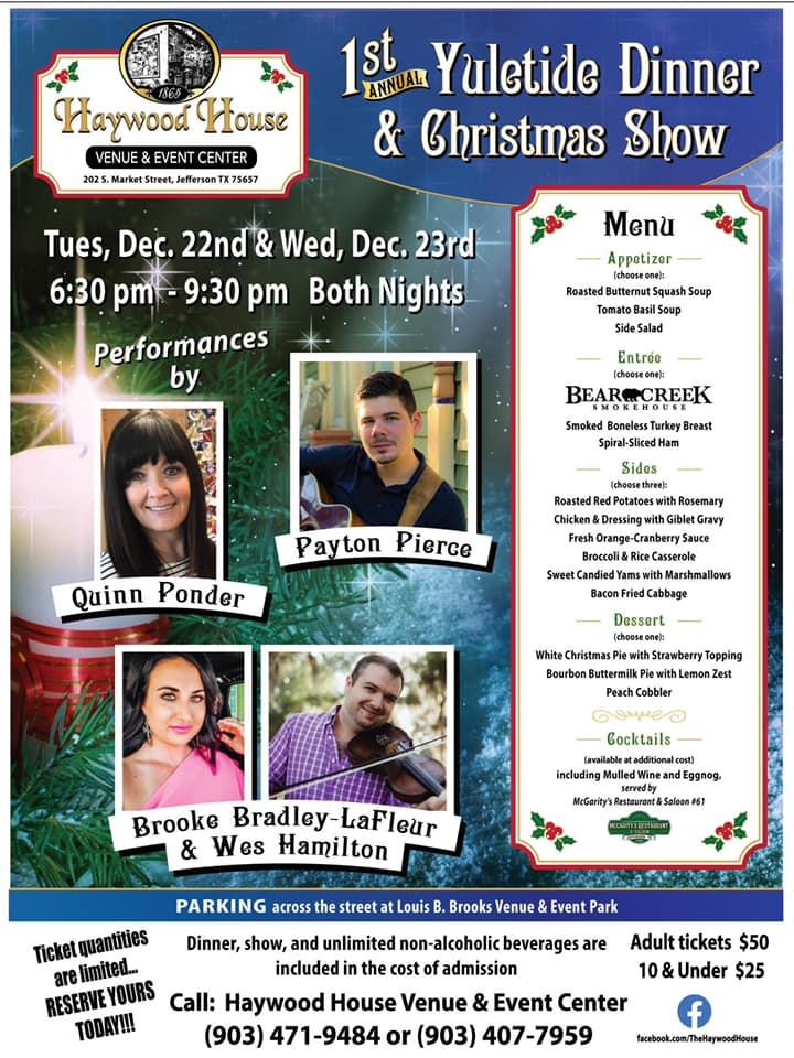 1st Annual Yuletide Dinner & Christmas Show