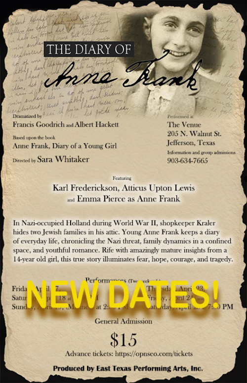 The Diary of Anne Frank Production