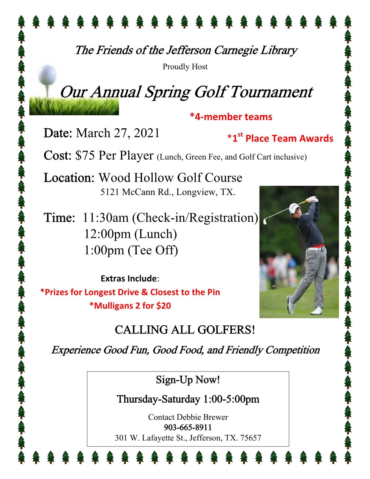 Annual Spring Golf Tournament
