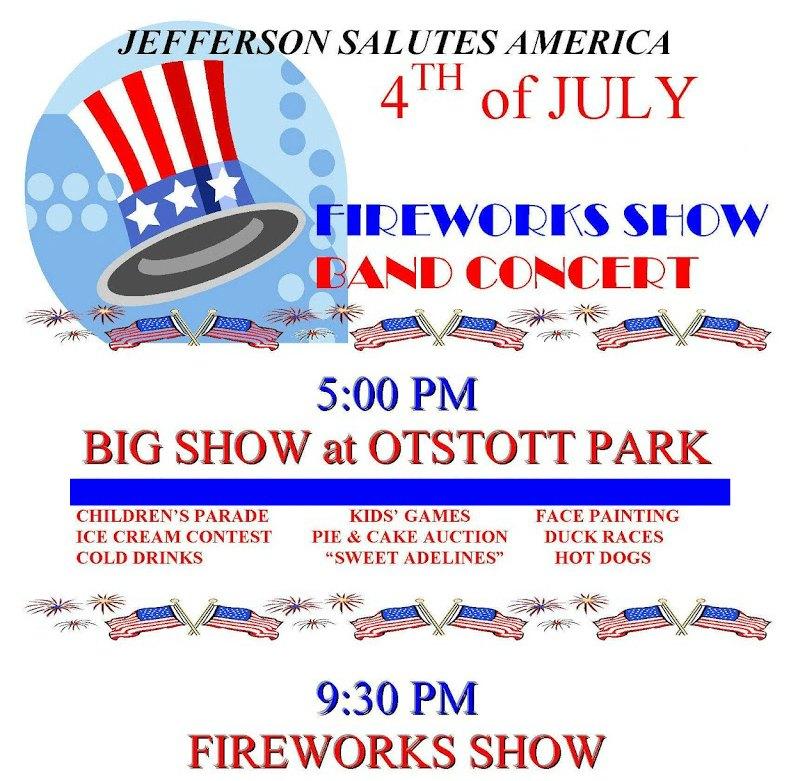 Jefferson Salutes America Celebration & Fireworks Show