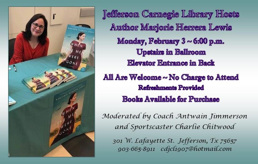 Author Marjorie Herrera Lewis/ Carnegie Library