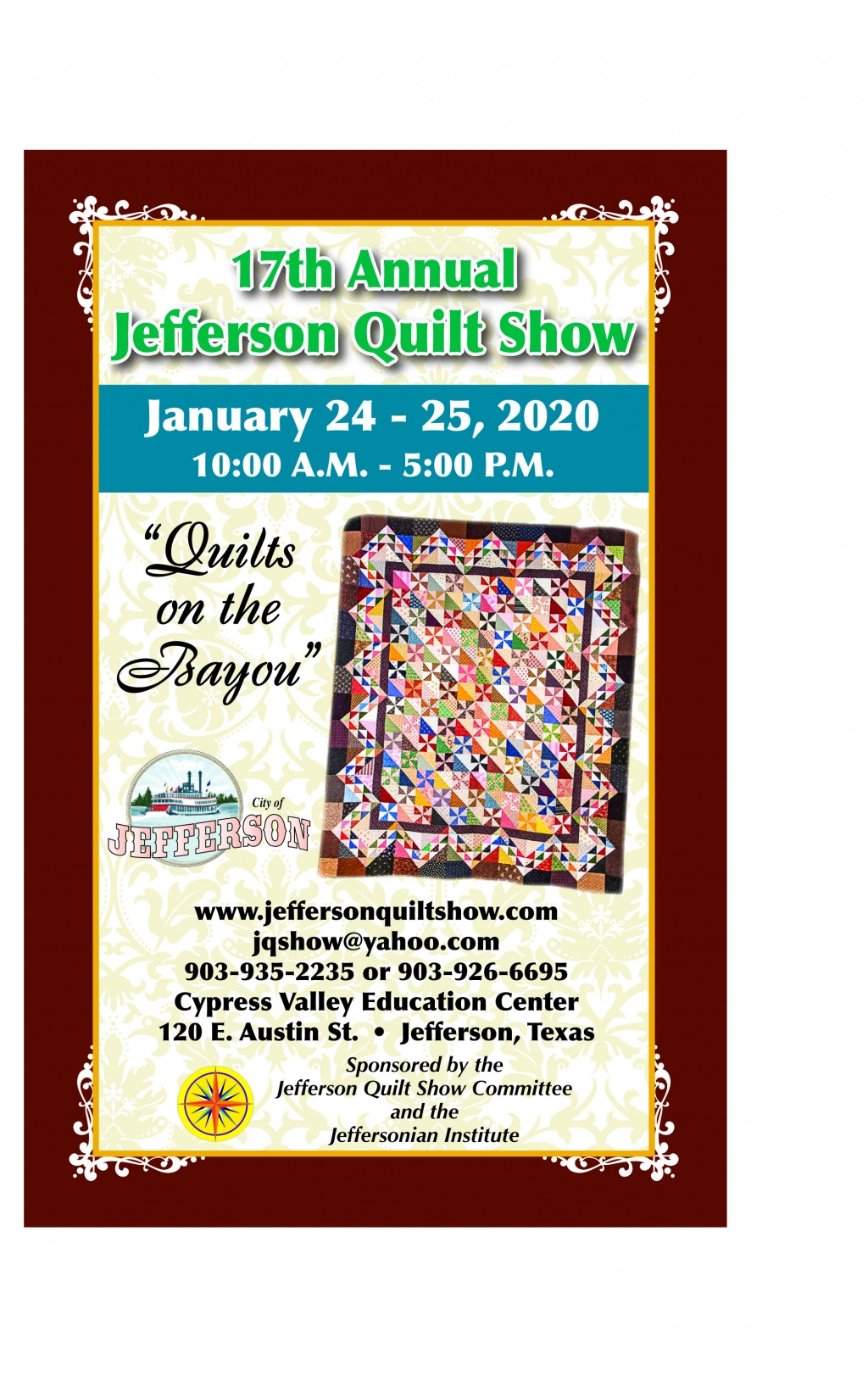 """Jefferson Quilt Show/ """"Quilts on the Bayou"""""""