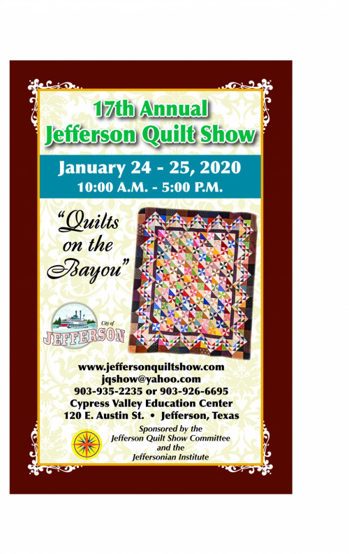 "Jefferson Quilt Show/ ""Quilts on the Bayou"""
