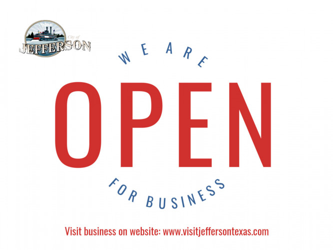 Jefferson is OPEN for business!