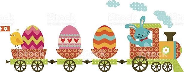 Easter Egg Express – gas-powered locomotive