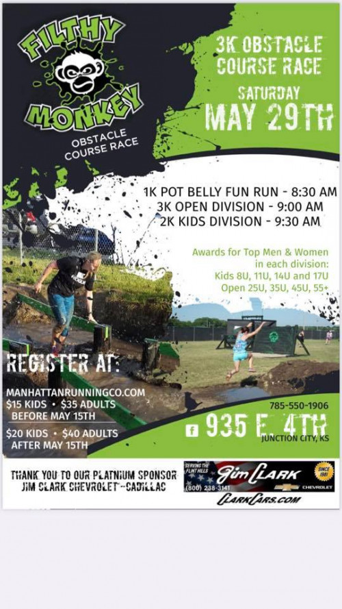 4th Annual Filthy Monkey Obstacle Course Race