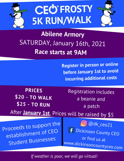 CEO Frosty 5k Event