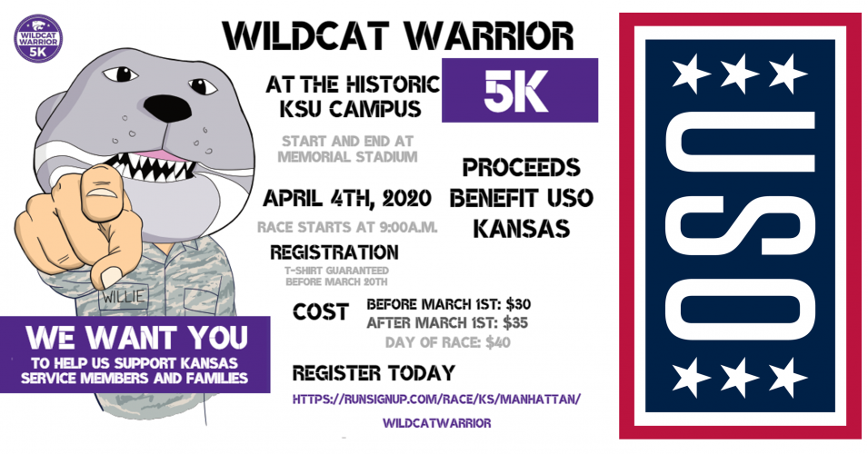 Wildcat Warrior 5K – Come Help Us Support Military Families!
