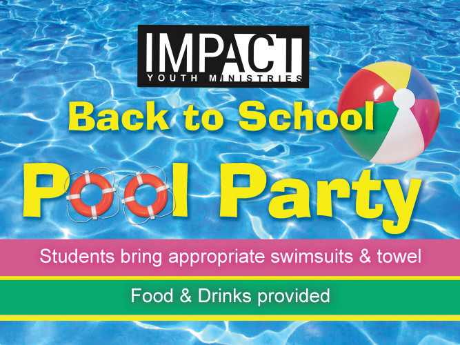 YOUTH-Back to School Swim Party